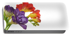 Colorful Freesias Portable Battery Charger by Elvira Ladocki