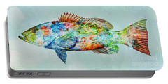 Colorful Gag Grouper Art Portable Battery Charger