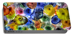 Colorful Glass Ceiling In Bellagio Lobby Portable Battery Charger by Walt Foegelle