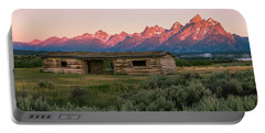 Colorful Grand Teton National Park Sunrise Portable Battery Charger by Serge Skiba