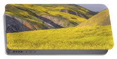 Portable Battery Charger featuring the photograph Colorful Hill And Golden Field by Marc Crumpler