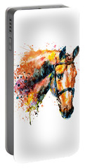 Portable Battery Charger featuring the mixed media Colorful Horse Head by Marian Voicu