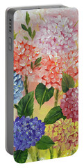 Colorful Hydrangeas Portable Battery Charger