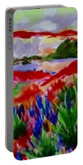Portable Battery Charger featuring the painting Colorful by Jamie Frier