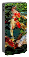 Colorful  Japanese Koi Fish Portable Battery Charger