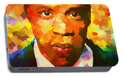 Colorful Jay Z Palette Knife Portable Battery Charger by Dan Sproul