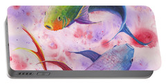 Colorful Koi Portable Battery Charger by Darice Machel McGuire