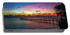 Colorful Lagoon Sunrise Portable Battery Charger