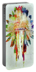 Colorful Lakota Sioux Headdress Portable Battery Charger