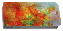 Portable Battery Charger featuring the painting Colorful Landscape Art In Abstract Style by Ayse Deniz