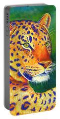 Colorful Leopard Portrait Portable Battery Charger