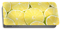 Colorful Limes Portable Battery Charger by James BO  Insogna
