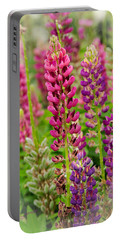 Colorful Lupine Portable Battery Charger