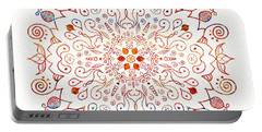 Colorful Mandala On Watercolor Paper Portable Battery Charger