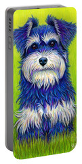 Colorful Miniature Schnauzer Dog Portable Battery Charger