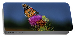 Portable Battery Charger featuring the photograph Colorful Monarch by Sandy Keeton