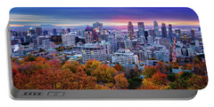 Portable Battery Charger featuring the photograph Colorful Montreal  by Mircea Costina Photography