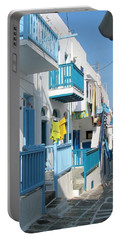 Portable Battery Charger featuring the photograph Colorful Mykonos by Carla Parris