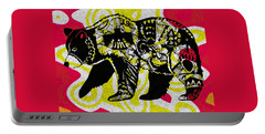 Colorful Native Black Bear Portable Battery Charger