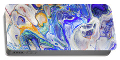 Colorful Night Dreams 5. Abstract Fluid Acrylic Painting Portable Battery Charger