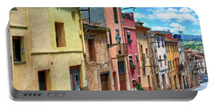 Colorful Old Houses In Tarragona Portable Battery Charger