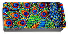 Colorful Paisley Peacock Portable Battery Charger