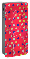 Colorful Pepermint Candy Canes Portable Battery Charger