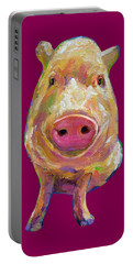 Colorful Pig Painting Portable Battery Charger