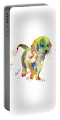 Colorful Puppy Watercolor - Little Friend Portable Battery Charger by Melly Terpening