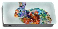 Colorful Rabbit Art Portable Battery Charger