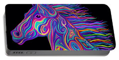 Colorful Rainbow Stallion  Portable Battery Charger