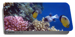 Colorful Red Sea Fish And Corals Portable Battery Charger