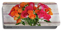 Colorful Rose Bouquet Portable Battery Charger