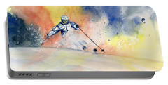 Colorful Skiing Art 2 Portable Battery Charger