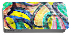 Portable Battery Charger featuring the mixed media Colorful Soul by Lucia Sirna