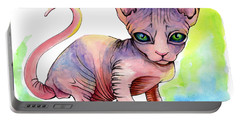 Colorful Sphynx Portable Battery Charger