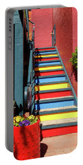 Portable Battery Charger featuring the photograph Colorful Stairs by James Eddy