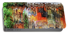 Colorful Street Cafe Portable Battery Charger