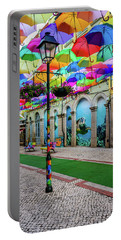 Colorful Street Portable Battery Charger by Marco Oliveira