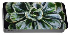 Colorful Succulent Portable Battery Charger by Sandra Estes