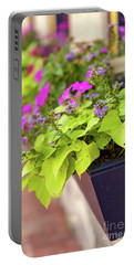 Colorful Summer Flowers In Window Box Portable Battery Charger