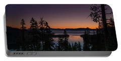 Colorful Sunrise In Emerald Bay Portable Battery Charger