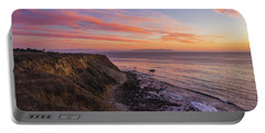 Colorful Sunset At Golden Cove Portable Battery Charger