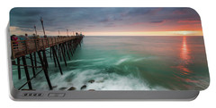 Colorful Sunset At The Oceanside Pier Portable Battery Charger