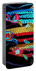 Colorful Swimming Trout Portable Battery Charger by Scott D Van Osdol
