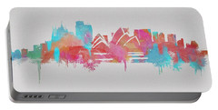 Colorful Sydney Skyline Silhouette Portable Battery Charger