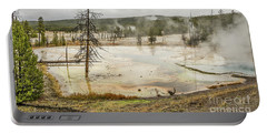 Portable Battery Charger featuring the photograph Colorful Thermal Pool by Sue Smith