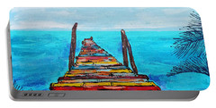 Colorful Tropical Pier Portable Battery Charger