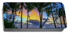 Colorful Tropical Sky Portable Battery Charger by Tom Claud