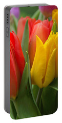 Colorful Tulip Bouquet Portable Battery Charger